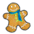 Gingerbread Man blue