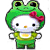 Frog Helly Kitty Plushie
