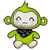 Green Monkey Plush
