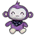 Purple Monkey Plush