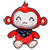 Red Monkey Plush