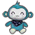 Teal Monkey Plush